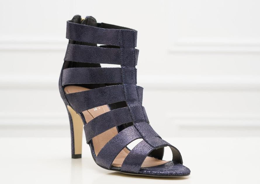 1da1e3f72d1e Glamadise.sk - Dámske kožené páskové sandále tmavo modré - Pierre Cardin -  Sandále - Dámske topánky - GLAM