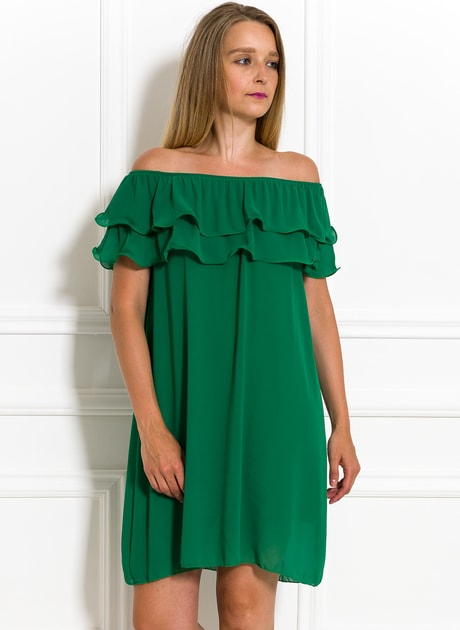 Glamadise.sk - Dámske letné šaty s volánom zelené - Glamorous by Glam -  Letní šaty - Šaty 2d48abfb82b