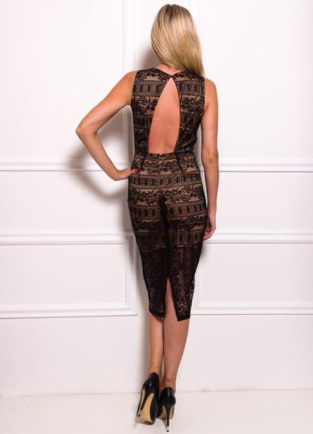 Glamadise.sk - Dámske elegantné midi šaty s čipkou - Due Linee - Šaty -  Dámske oblečenie - GLAM 9cd11a89280
