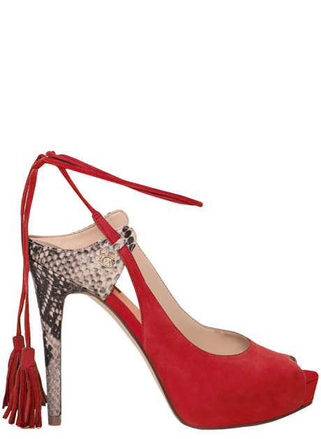 567c6039880bc Glamadise.sk - Guess dámske lodičky so šnurovaním červené - Guess - Lodičky  - Dámske topánky - GLAM, protože chci být odlišná!