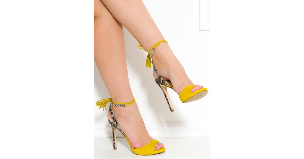 Glamadise.sk - Guess dámske lodičky so šnurovaním žlté - Guess - Lodičky -  Dámske topánky - GLAM 5ecc33cd22