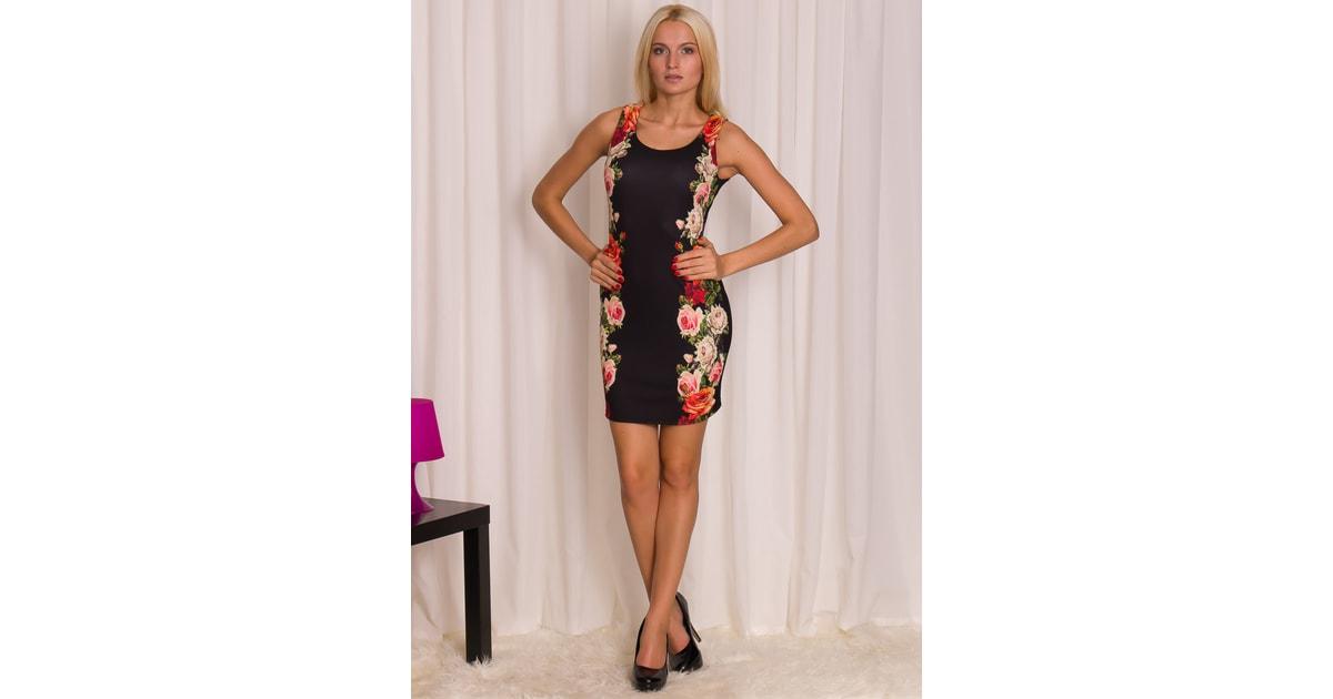 Glamadise.sk - Dámske šaty s kvetmi na bokoch - Glamorous by Glam - Šaty -  Dámske oblečenie - GLAM 22aa704b302