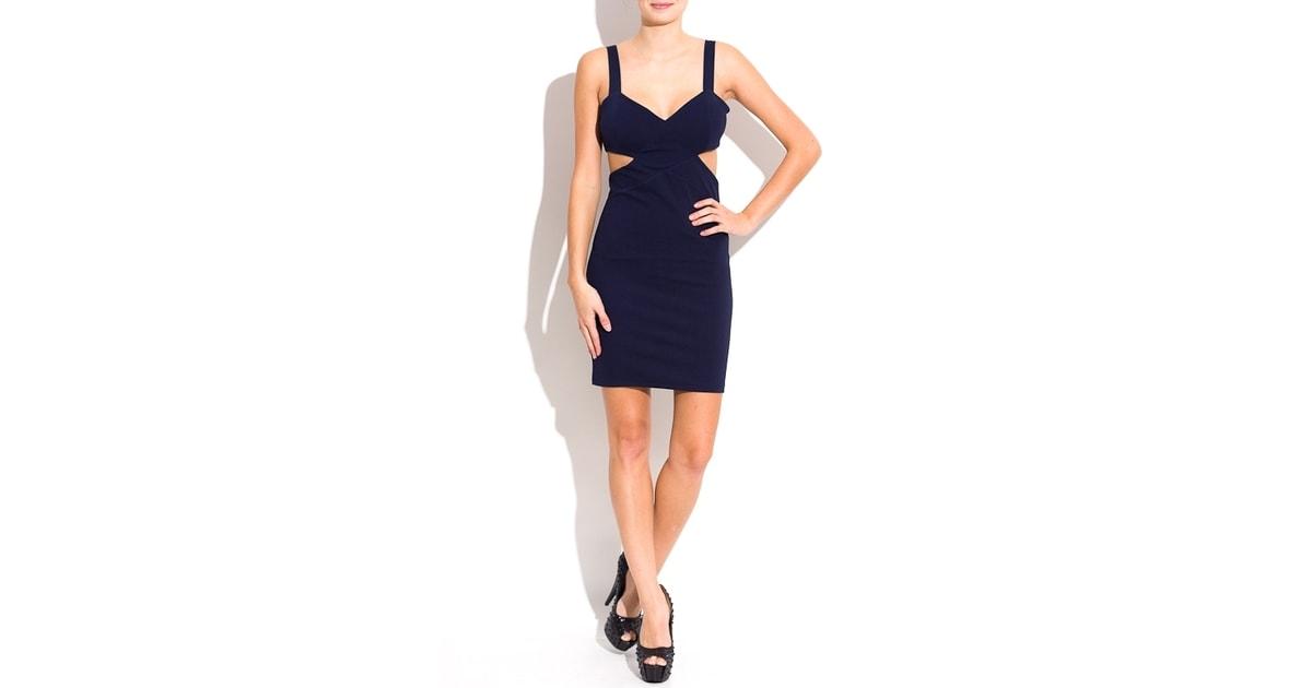 73f2e77441c Dámské šaty s výkrojem na bocích-tm.modrá - Glamorous by Glam - Šaty - Dámské  šaty - GLAM