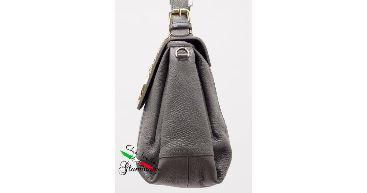 d303f9cbb2 Glamadise.sk - Kožená kabelka do ruky - šedá - Glamorous by GLAM - Kožené  kabelky - - GLAM