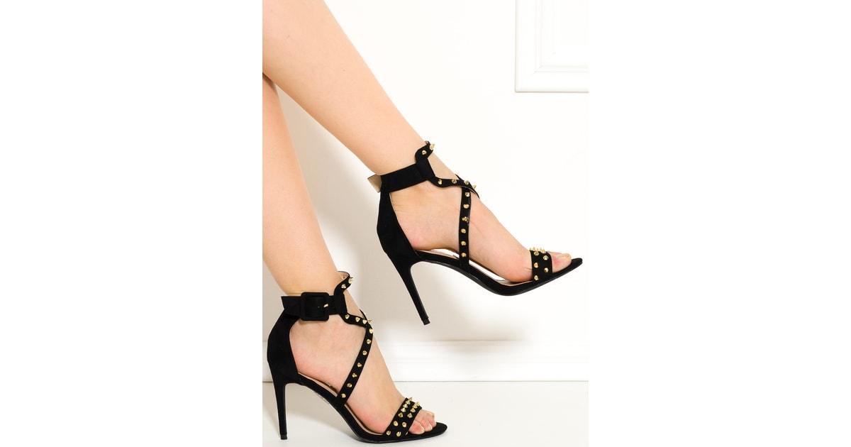 Glamadise - Italian fashion paradise - Dámské páskové lodičky s ostny černé  - Sandals - Women s Shoes - Glamadise - italian fashion paradise 2cc22baf21