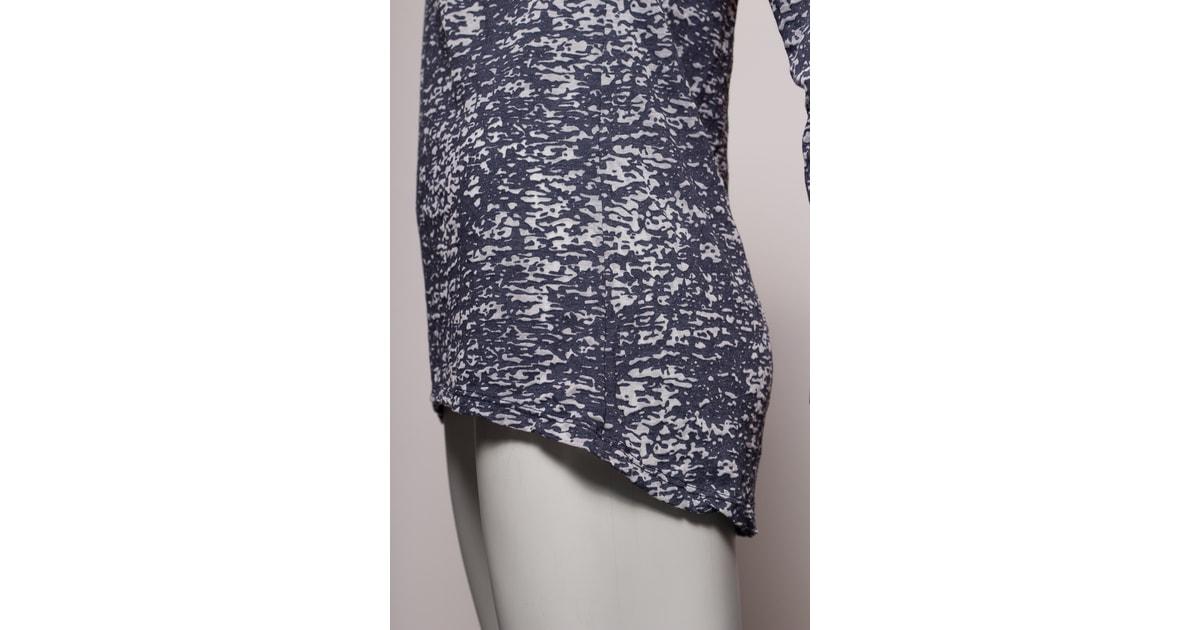 dfbee194dfa9 Glamadise.sk - Dámska tunika so vzorom a šatkou - tmavo modrá - Glamorous  by Glam - Topy a blúzky - Dámske oblečenie - GLAM