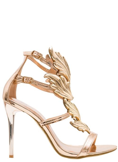 Dámske exkluzívne sandále zlaté ... ad0c819e4e