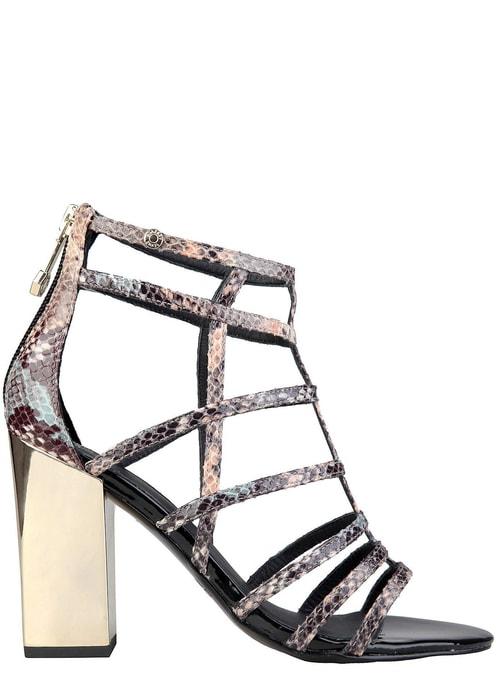 Versace jeans remienkové sandále na podpätku hadie ... 7deeac899d