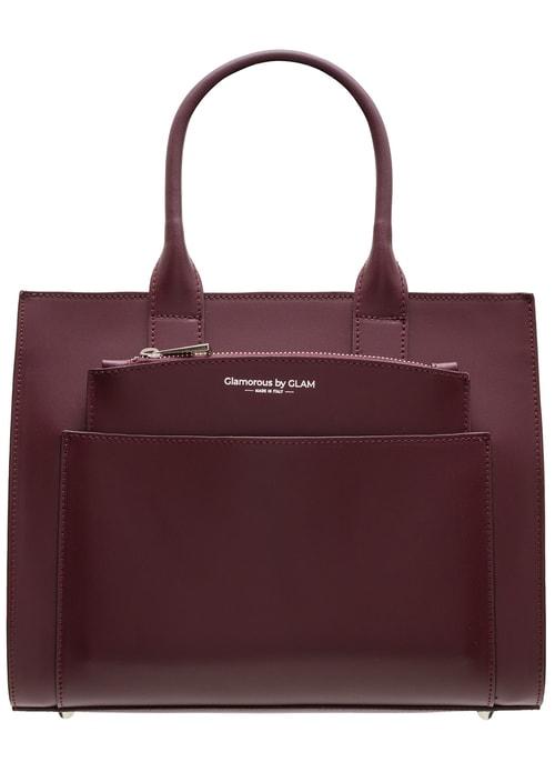 73c377ecb27 Vínová dámská kabelka do ruky s kapsičkou ...
