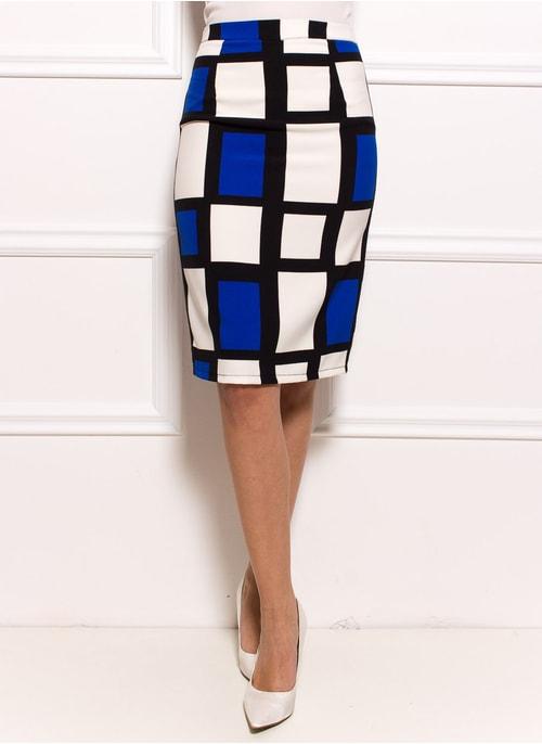 Dámská elegantní pouzdrová sukně s kostkami ... caaa9e5c58
