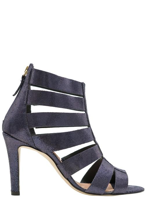 Dámské kožené páskové sandály tmavě modré ... 555203935f