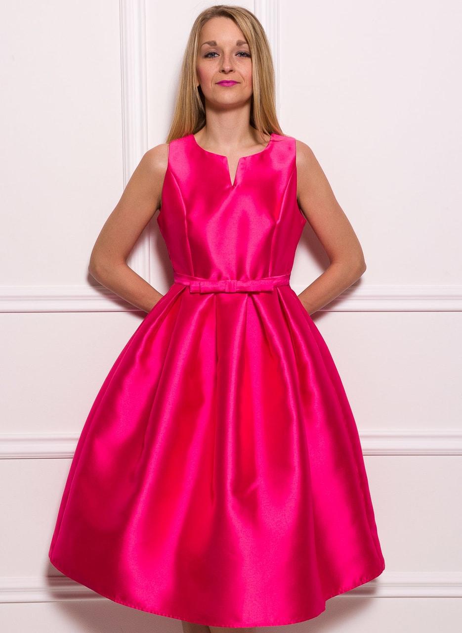 Glamadise.sk - Dámske luxusné dlhsie šaty A strih - fuchsiová - Due ... 85f46b7ebd