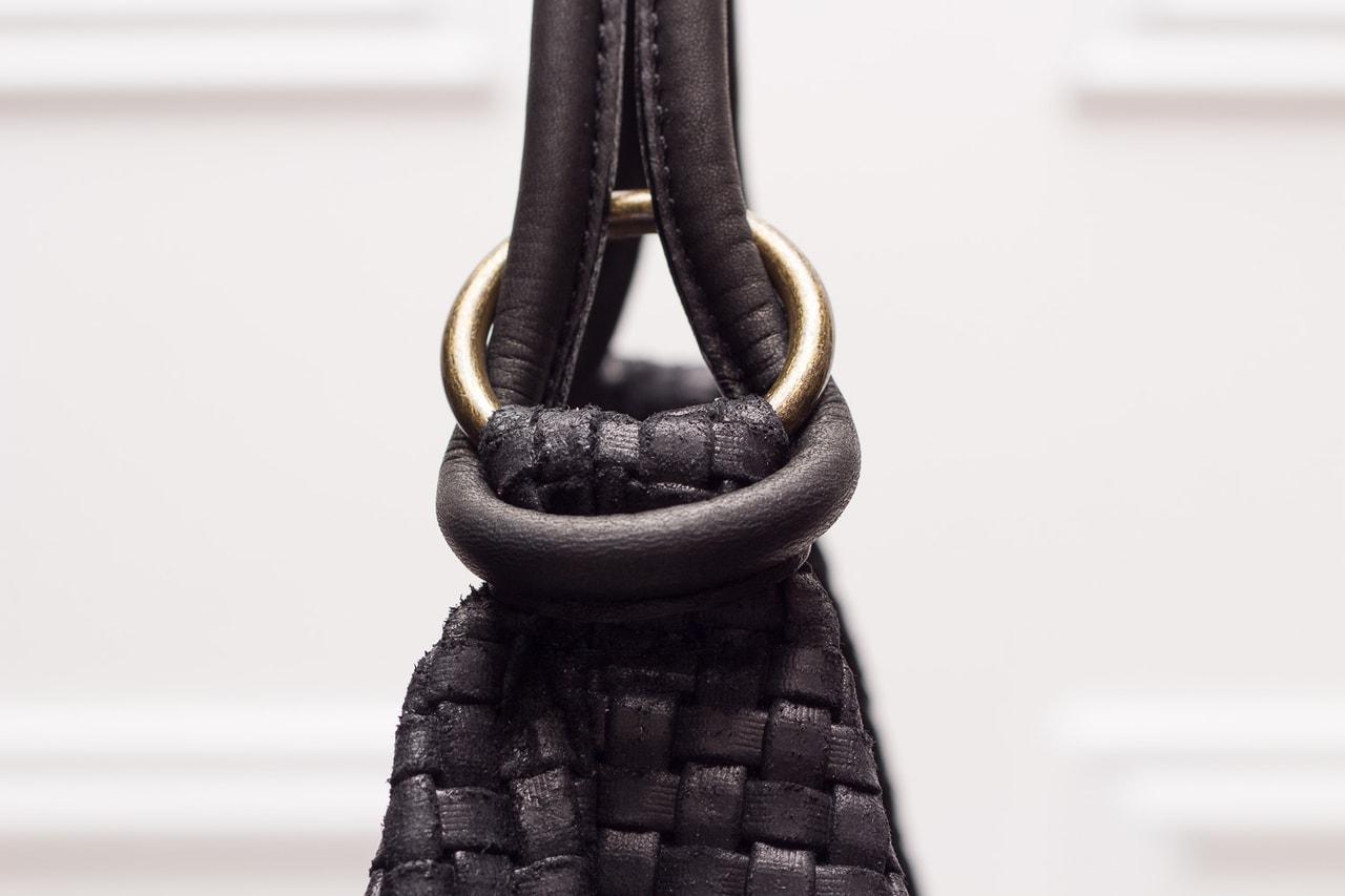 7a44badd899 Kožená kabelka z ražené kůže černá - Glamorous by GLAM - Kožené ...