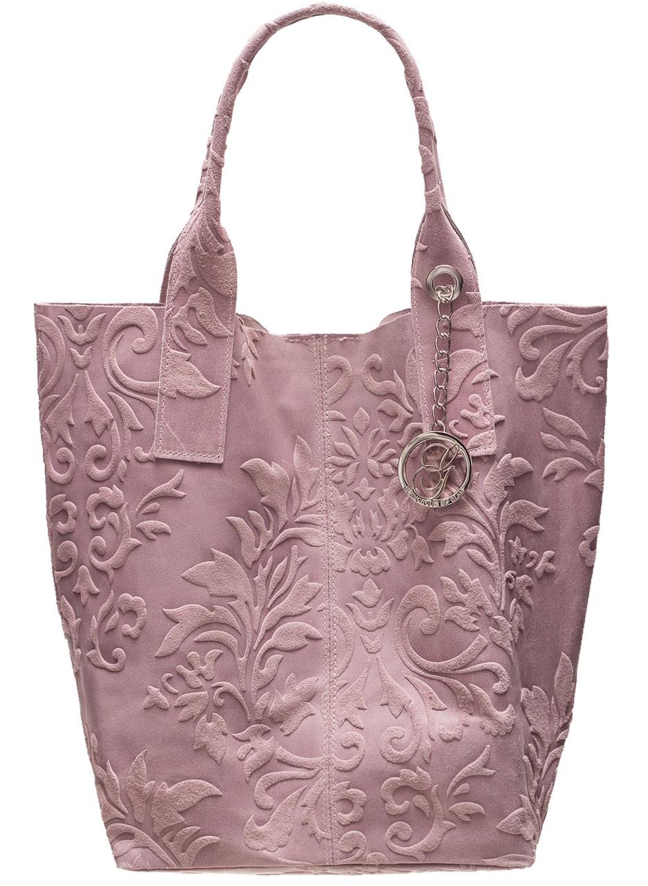 20f4b1696fd Kožená kabelka přes rameno ražená s květy - růžová - Glamorous by ...
