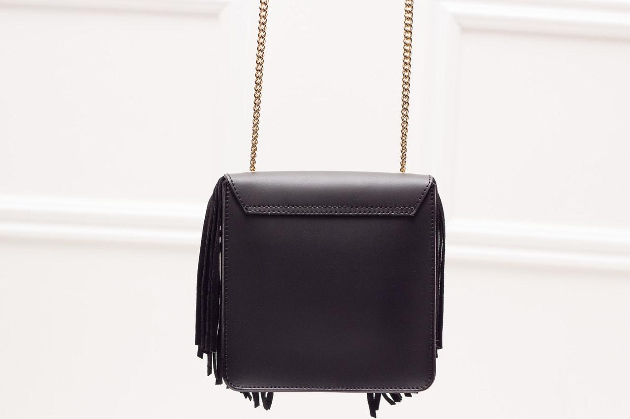 Glamadise.sk - Dámske luxusné kožená kabelka cez rameno - čierna ... 6d42b256c52