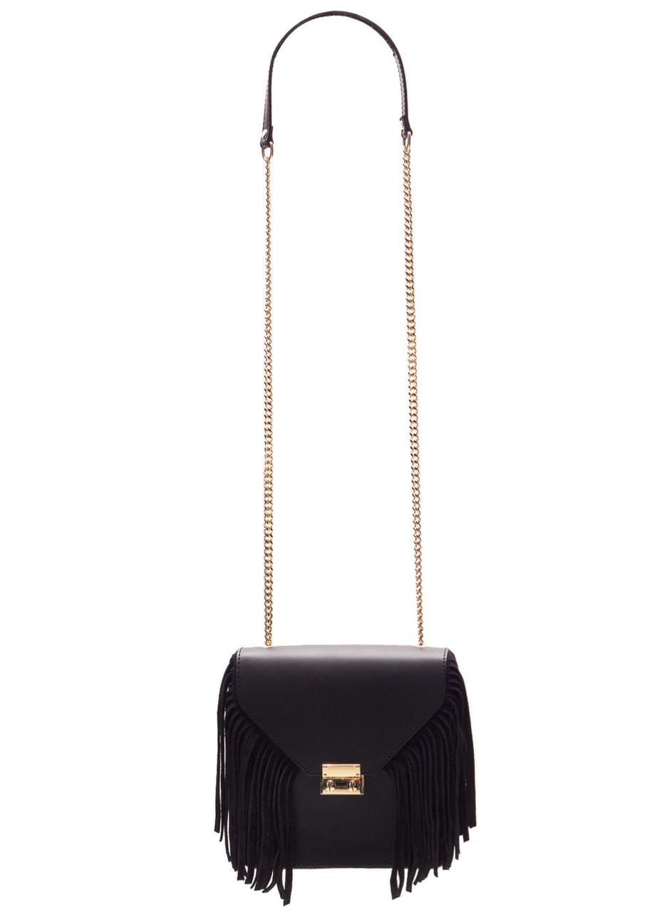 Glamadise.sk - Dámske luxusné kožená kabelka cez rameno - čierna ... 73674880dd1
