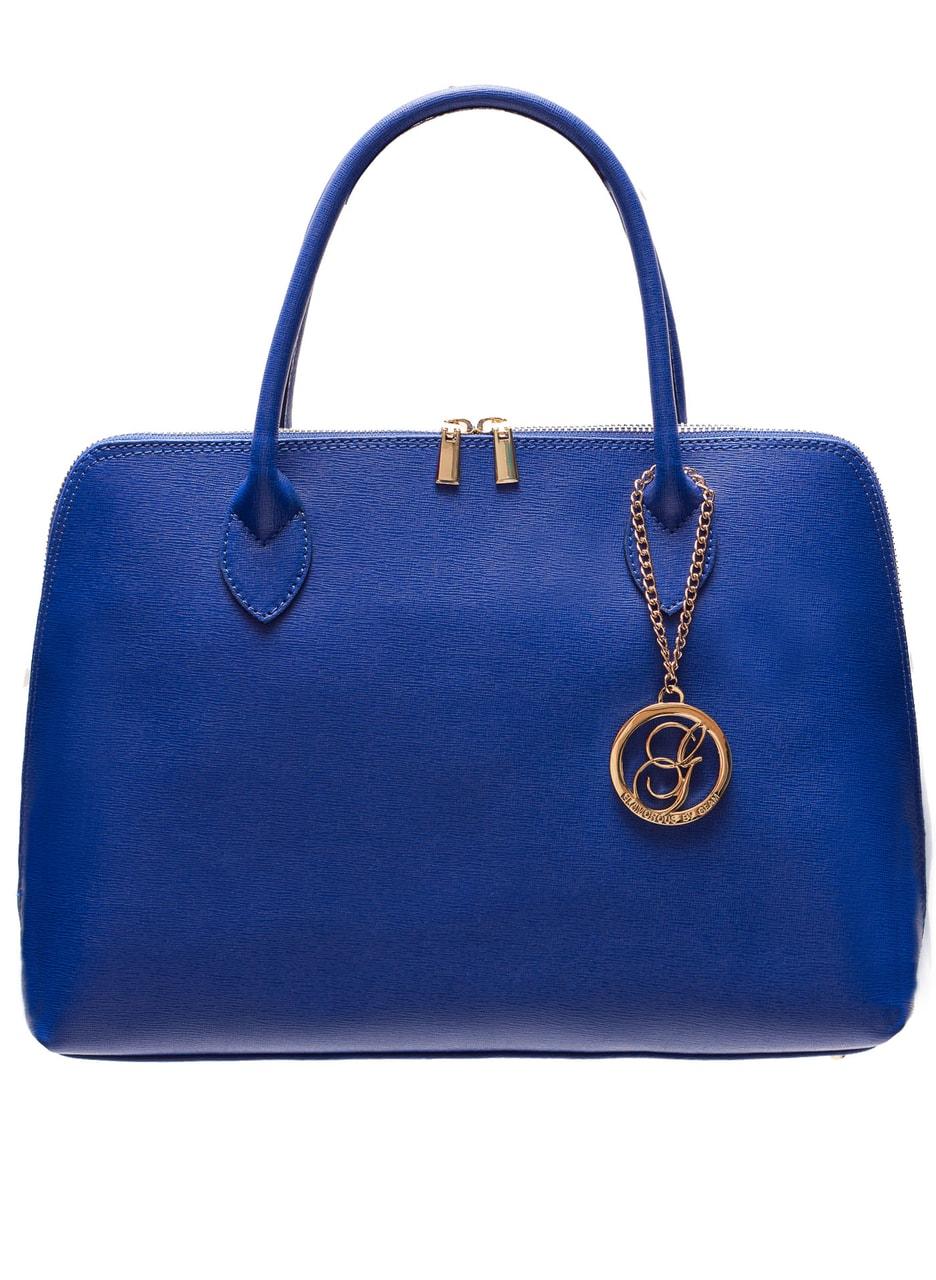 Glamadise.sk - Dámska kožená kabelka radenie - kráľovská modrá ... 6afc79176b8