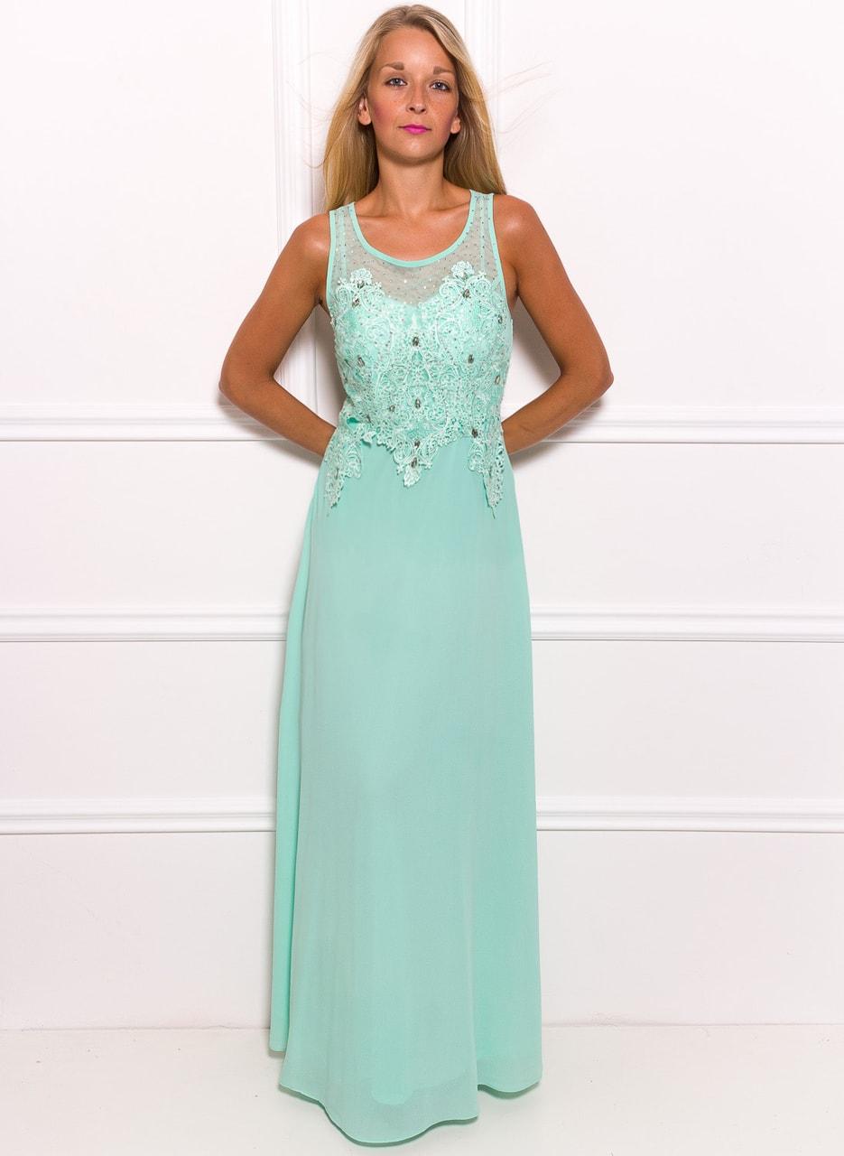 Glamadise.hu Fashion paradise - Női hosszú ruha Due Linee - Zöld ... 9a4630f467
