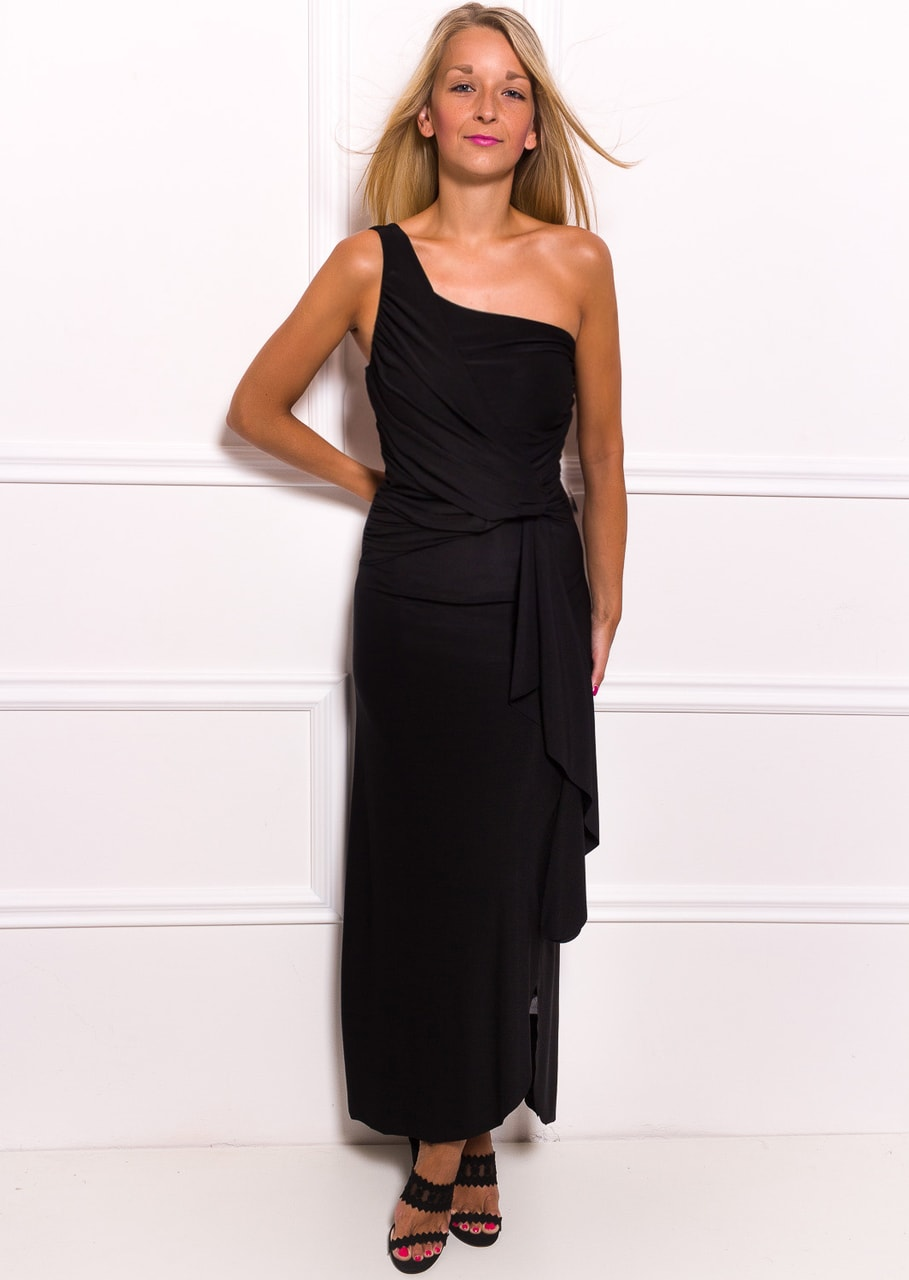 Glamadise.hu Fashion paradise - Női hosszú ruha Due Linee - Fekete ... e0d3aea15c