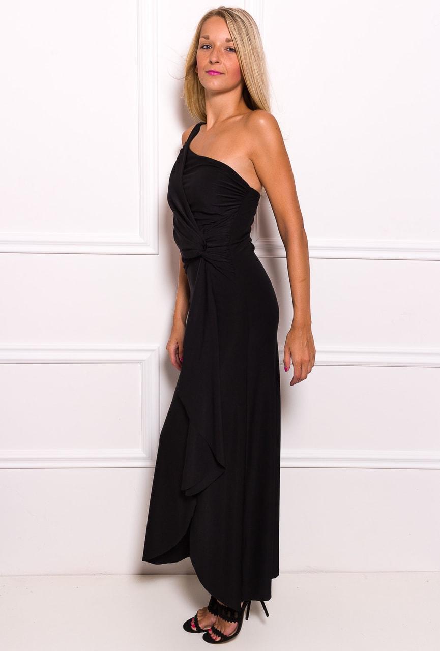 Glamadise.sk - Spoločenské dlhé šaty na jedno rameno s naberaním na ... 1de82dc2df7