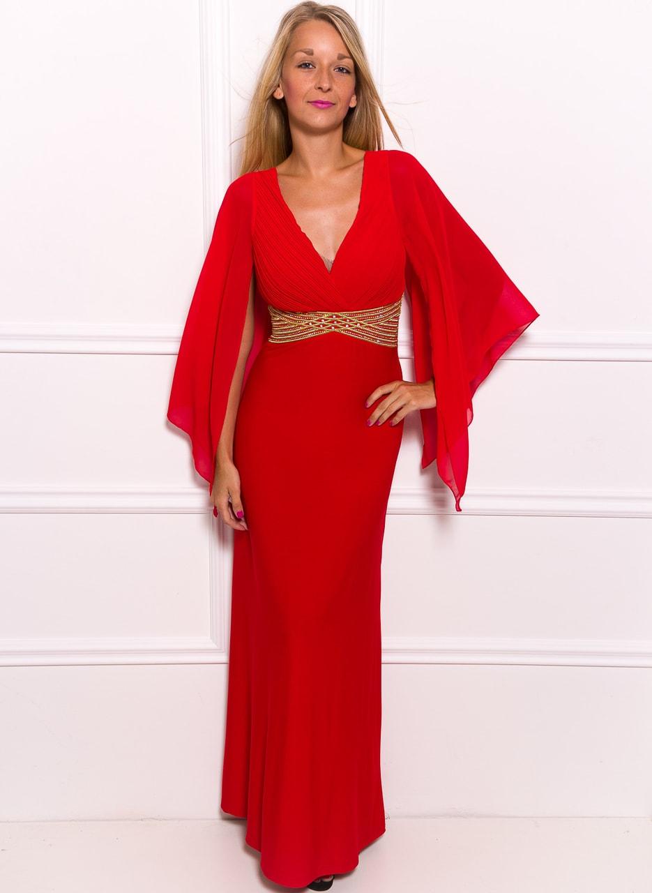 Glamadise.hu Fashion paradise - Női hosszú ruha Due Linee - Piros ... 2297a215ff
