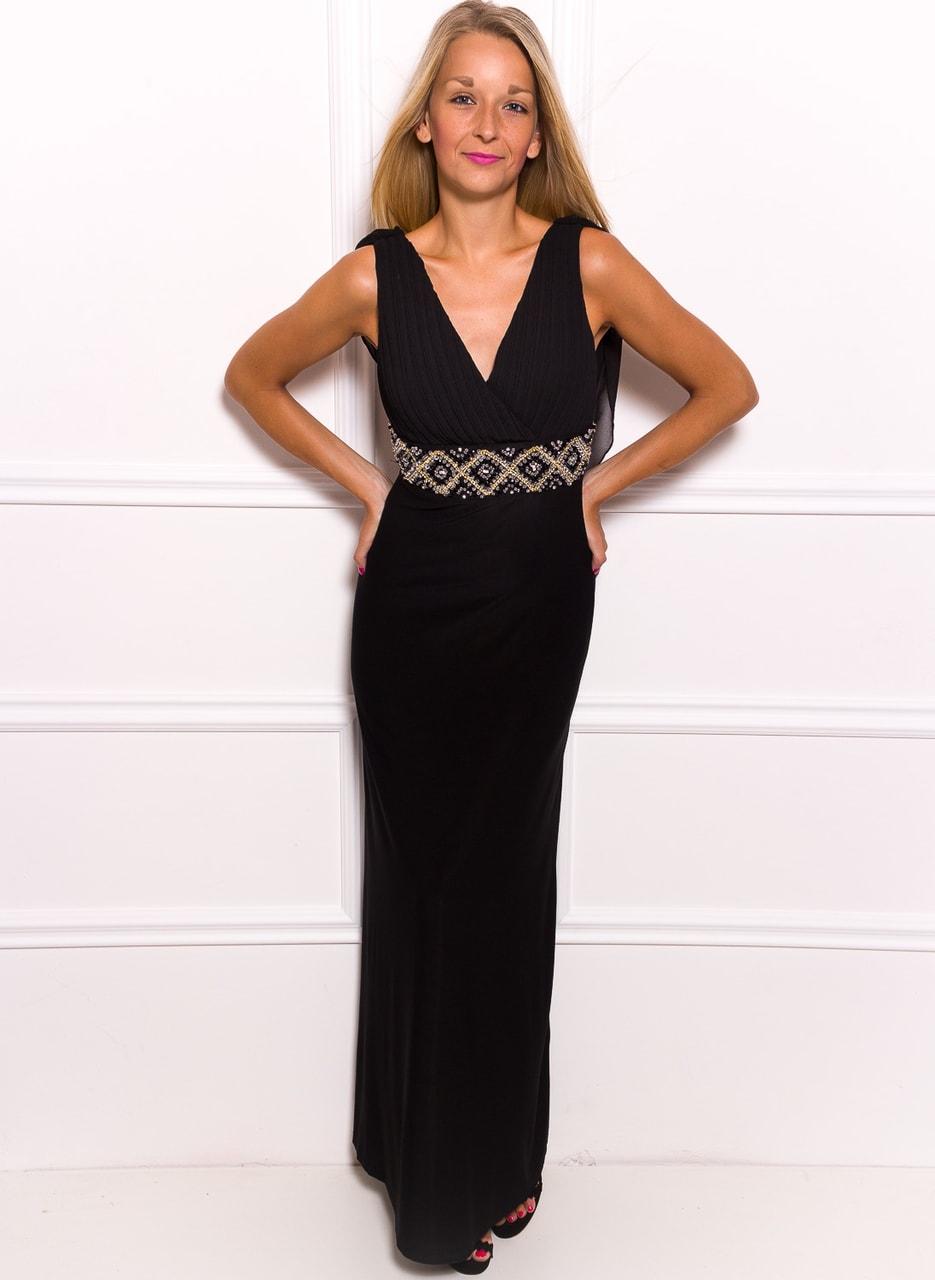 c473942ff0 Glamadise.hu Fashion paradise - Női hosszú ruha Due Linee - Fekete ...