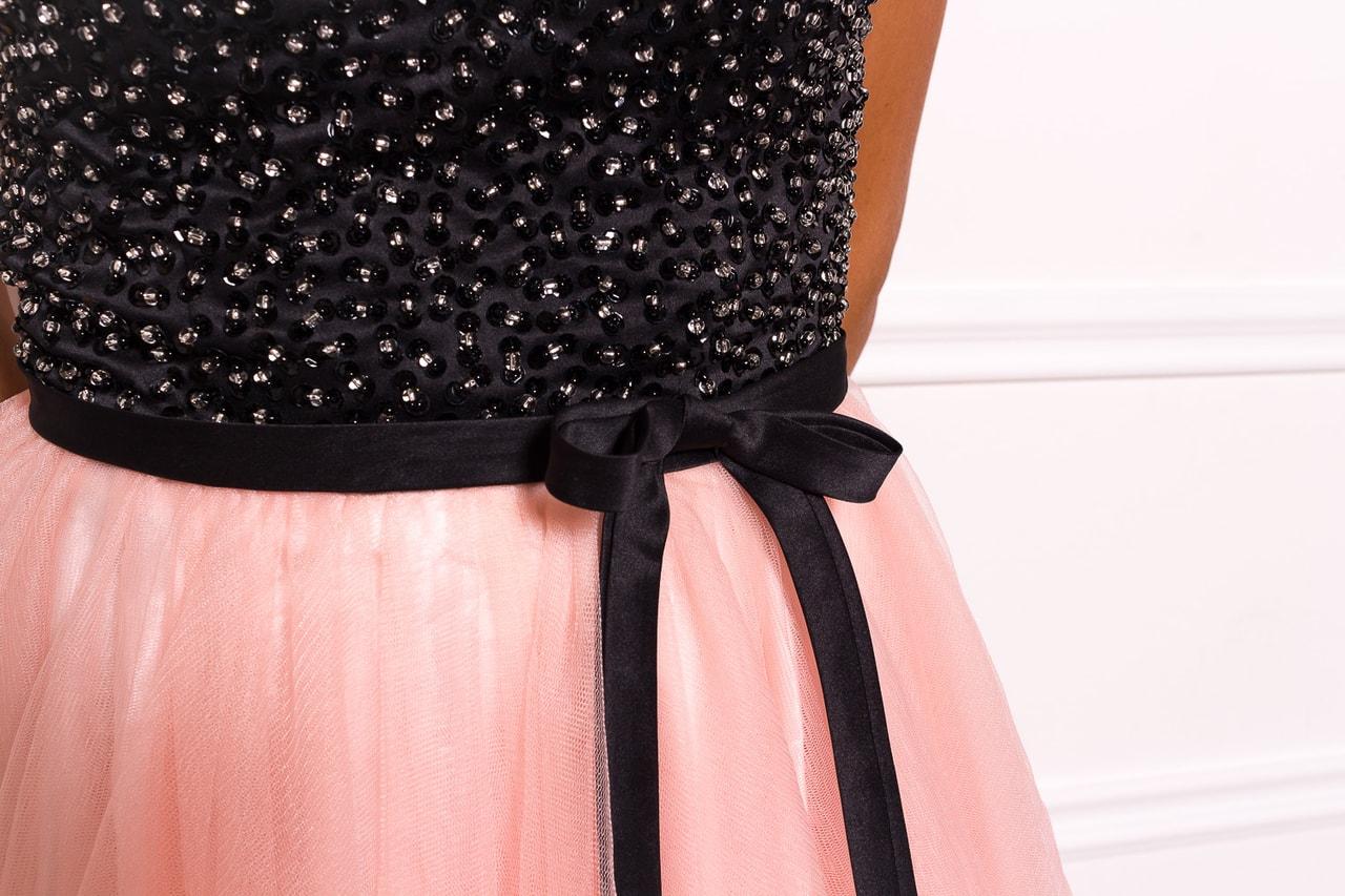 Dámské krátké plesové šaty bez ramínek - růžová - Due Linee - Šaty ... 2377a456cd