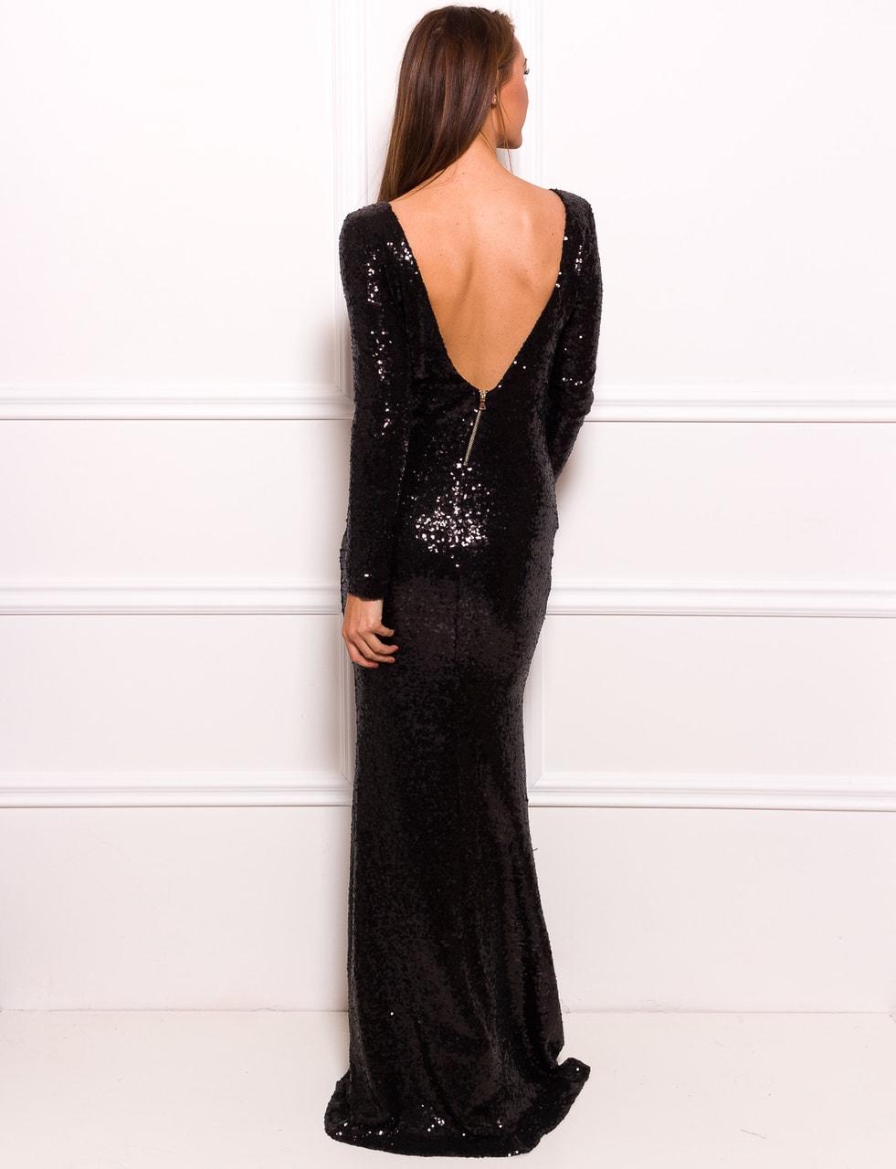 Glamadise.sk - Spoločenské luxusné dlhé šaty s flitrami a rukávmi ... 7dd717eb9a3