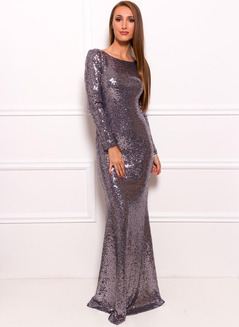Glamadise.sk - Spoločenské luxusné dlhé šaty s flitrami a rukávy ... 0bfff3674e8