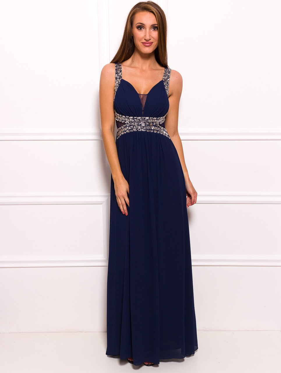f2e3f5587bb Glamadise - Italian fashion paradise - Due Linee Maxi dress Dark ...