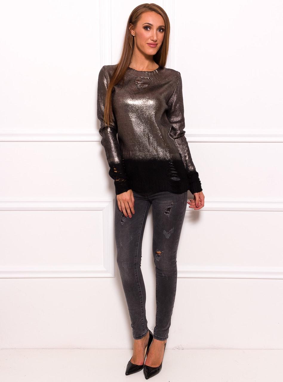 72975bca29 Glamadise.hu Fashion paradise - Női szvetter - Fekete - Pulóverek ...