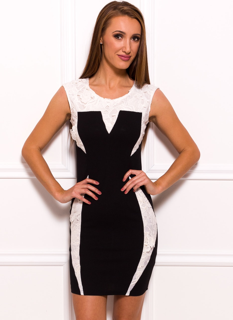 Glamadise.hu Fashion paradise - Női ruha Due Linee - Fekete-fehér ... b597712579