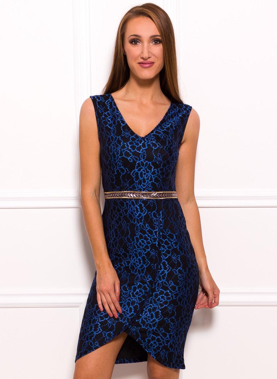 Glamadise - Italian fashion paradise - Due Linee Lace dress Blue ...