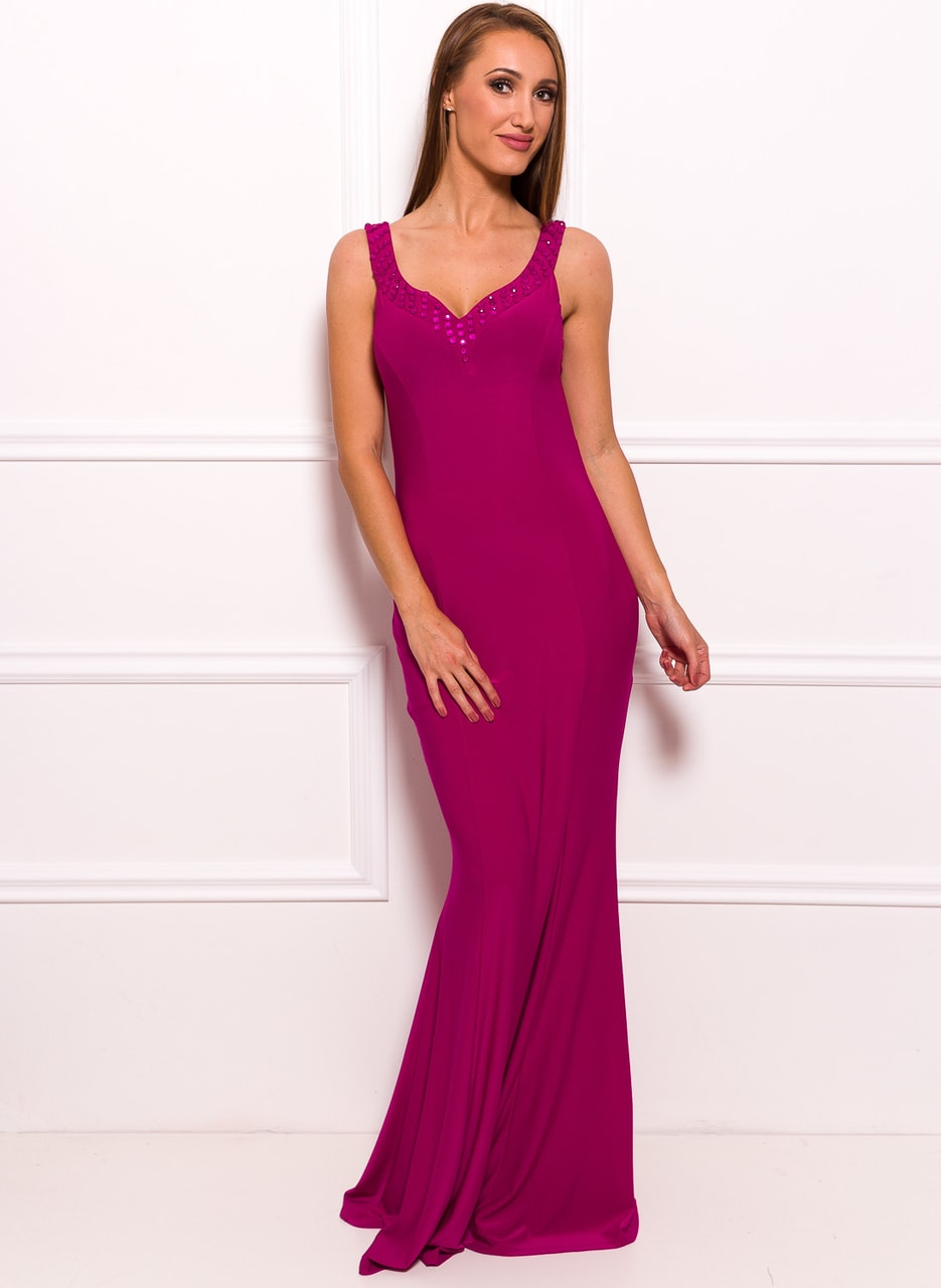 Glamadise.hu Fashion paradise - Női hosszú ruha Due Linee - Lila ... 993bbf4dc0