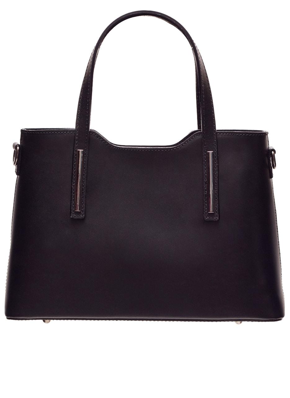 Glamadise.sk - Dámska pevná kabelka z čiernej kože - Glamorous by ... e5091ff9a4a