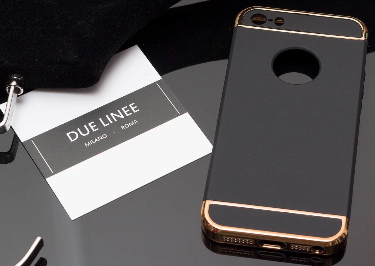 Kryt na Iphone 5 5S SE - elegantní se zlatým zdobením - černá - Due ... 7b9399a5a82