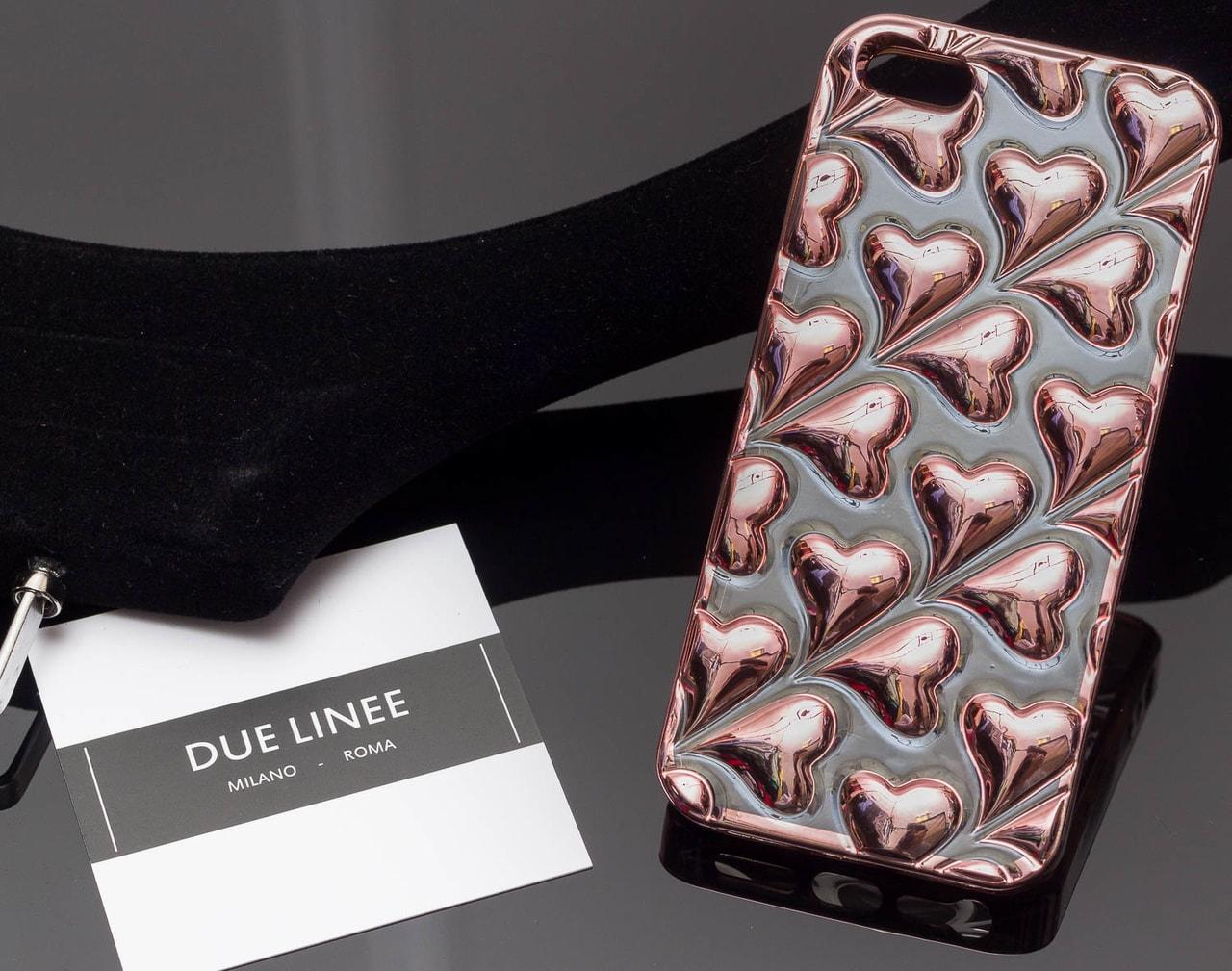 Glamadise.sk - Kryt na Iphone 5 5S SE - se srdíčky - rose gold - Due ... 11070ee459e