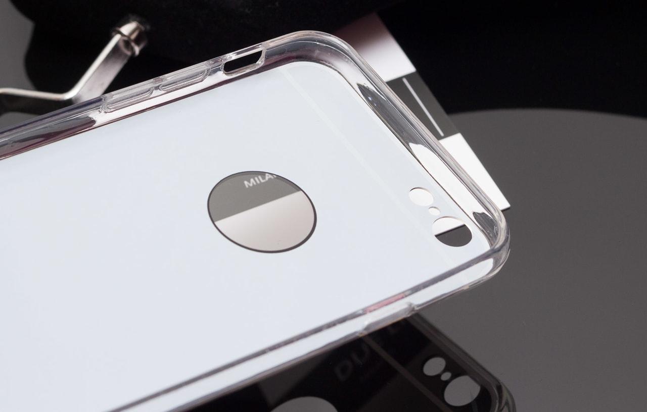 Glamadise.sk - Kryt na Iphone 6 6S - lesklá - stříbrná - Due Linee ... 51f11f66028
