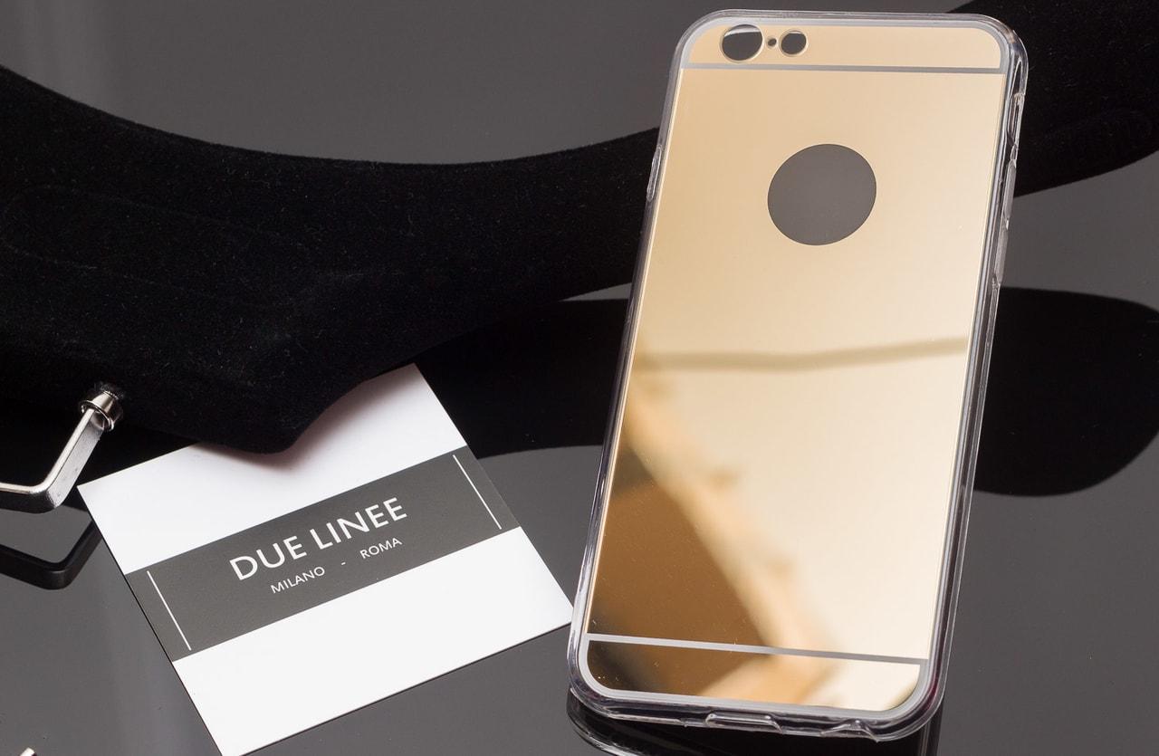 Glamadise.sk - Kryt na Iphone 6 6S - lesklá - zlatá - Due Linee ... 5d246f8840c