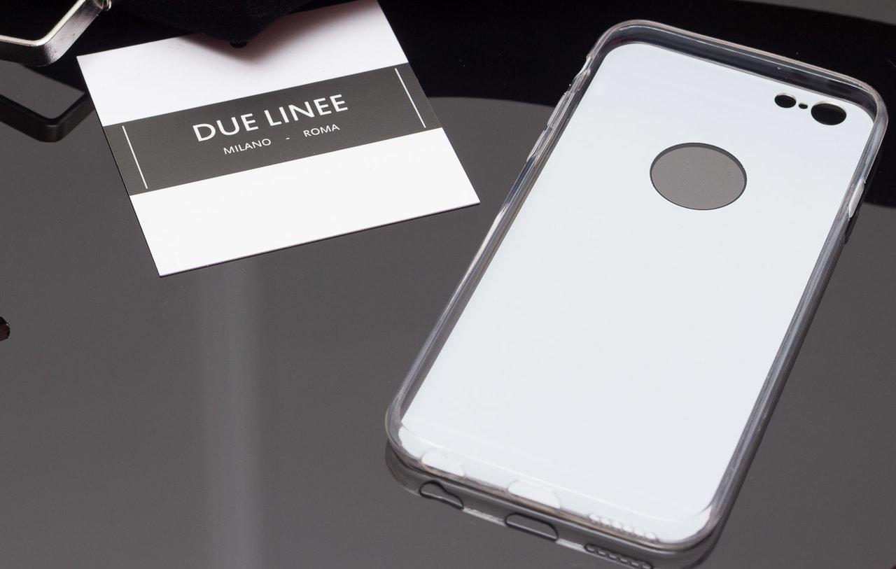 Glamadise.sk - Kryt na Iphone 6 6S - lesklá černo - stříbrná - Due ... a177e86269e