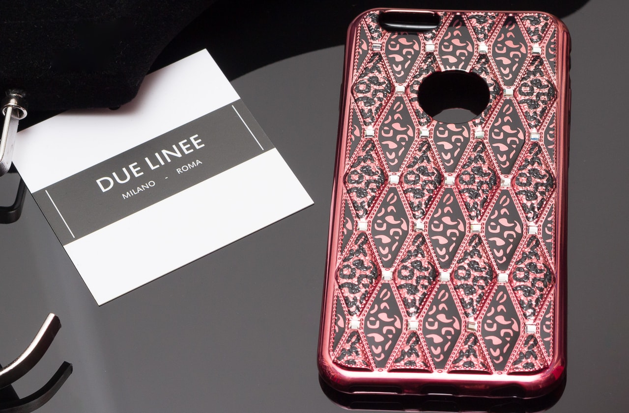 Glamadise.sk - Kryt na Iphone 6 6S - s pestrým vzorem - růžová - Due ... d4a8010eb1a