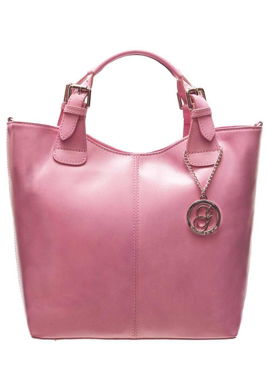 Glamadise.sk - Dámska kožená kabelka do ruky - ružová - Glamorous by ... 5ce11542aa3