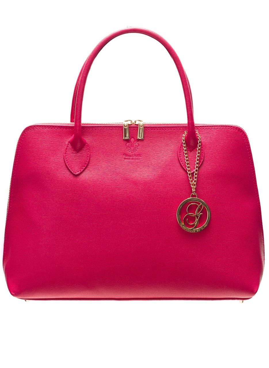 Glamadise.sk - Dámska kožená kabelka zo safiánové kože - ružová ... ec021e14ffc