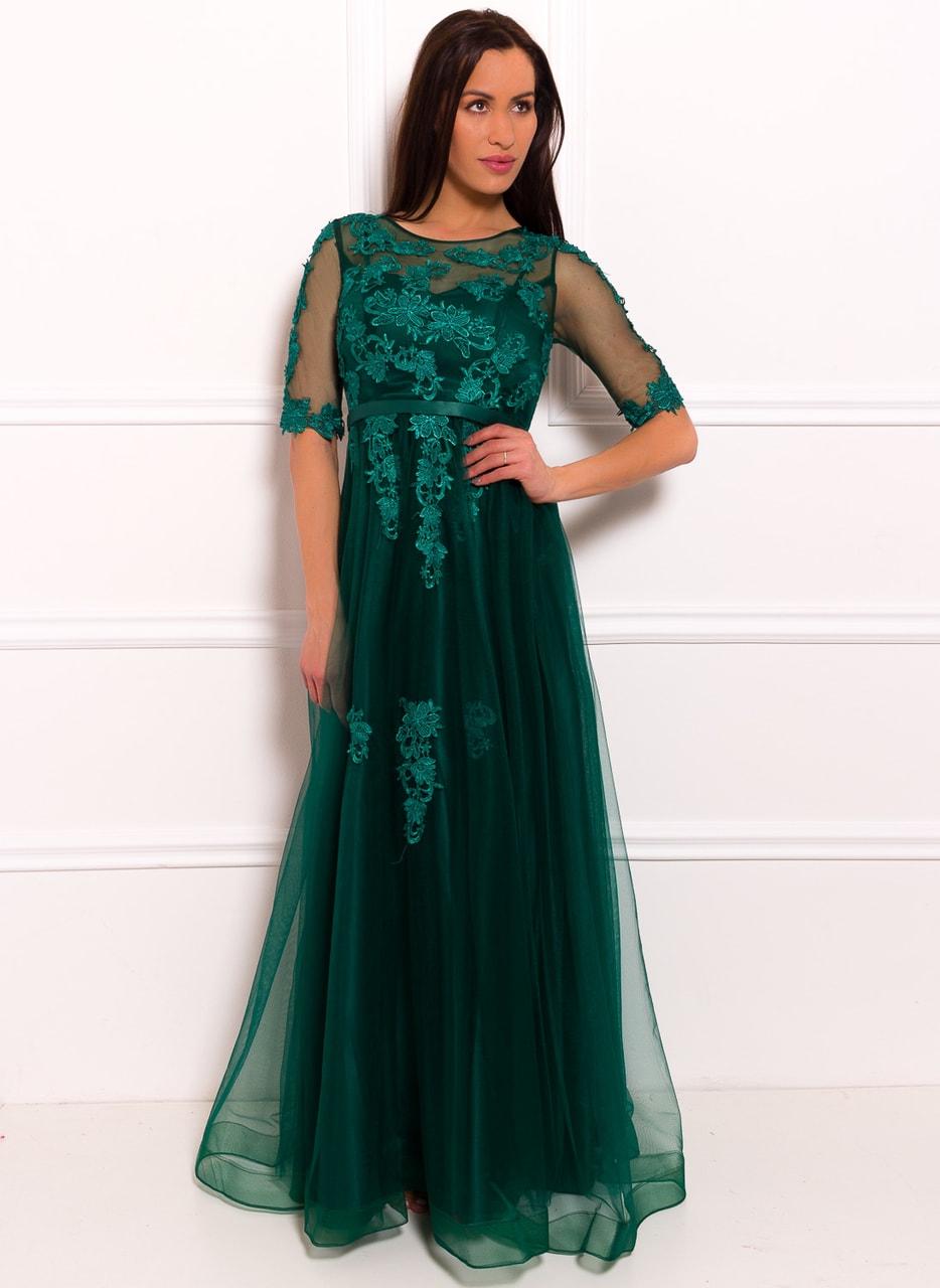 Glamadise.hu Fashion paradise - Női hosszú ruha Due Linee - Zöld ... c907940b50