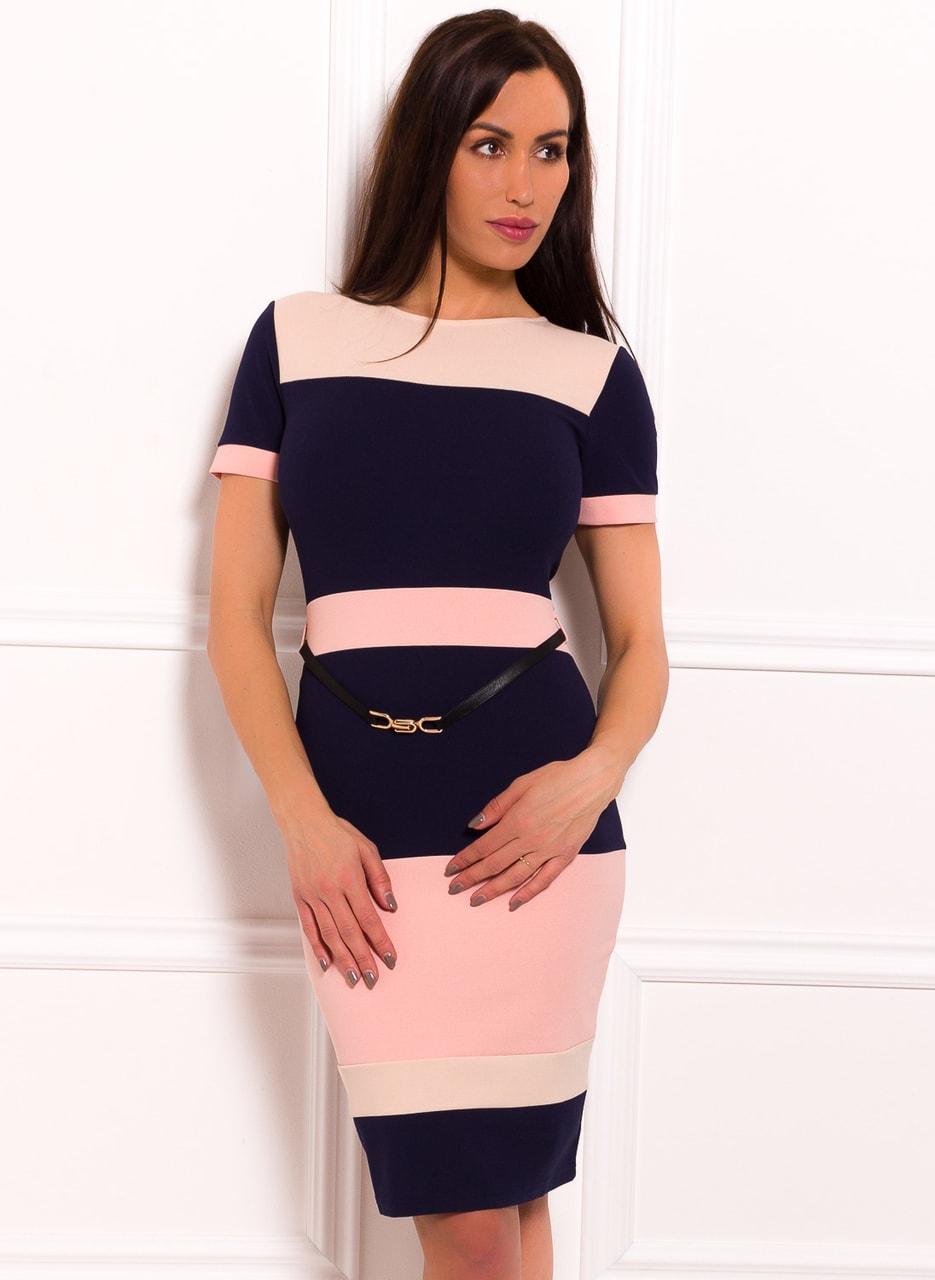 Glamadise.hu Fashion paradise - Női hétköznapi ruha Due Linee - Kék ... c958d1ac6f