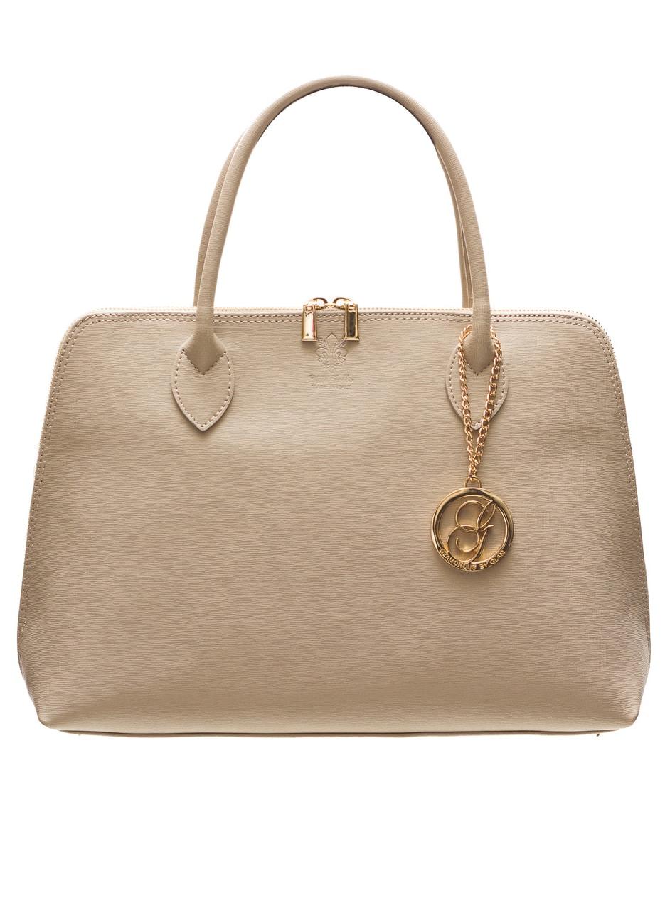 Dámská kožená kabelka ze safiánové kůže šedo - béžová - Glamorous by ... 452f12391e