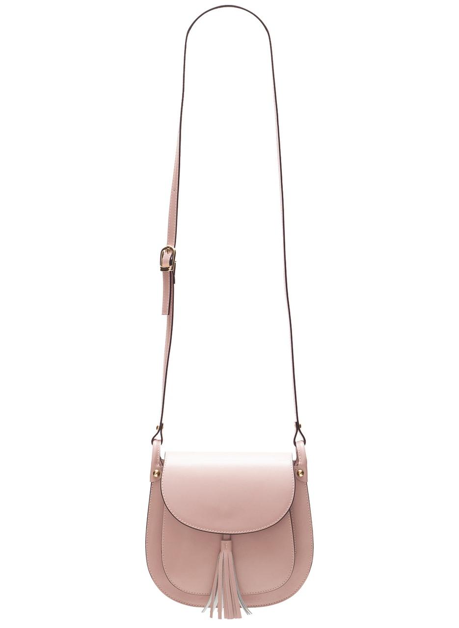 Glamadise.sk - Dámska kožená crossbody kabelka matná - ružová ... 0e60ab15472
