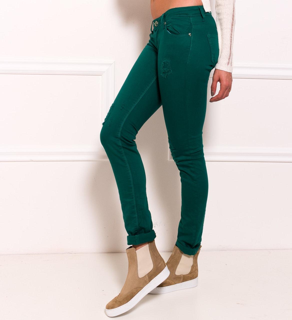 fe8f8b0b0af Dámské jeany zelená - Due Linee - Jeany - Dámské oblečení - GLAM ...