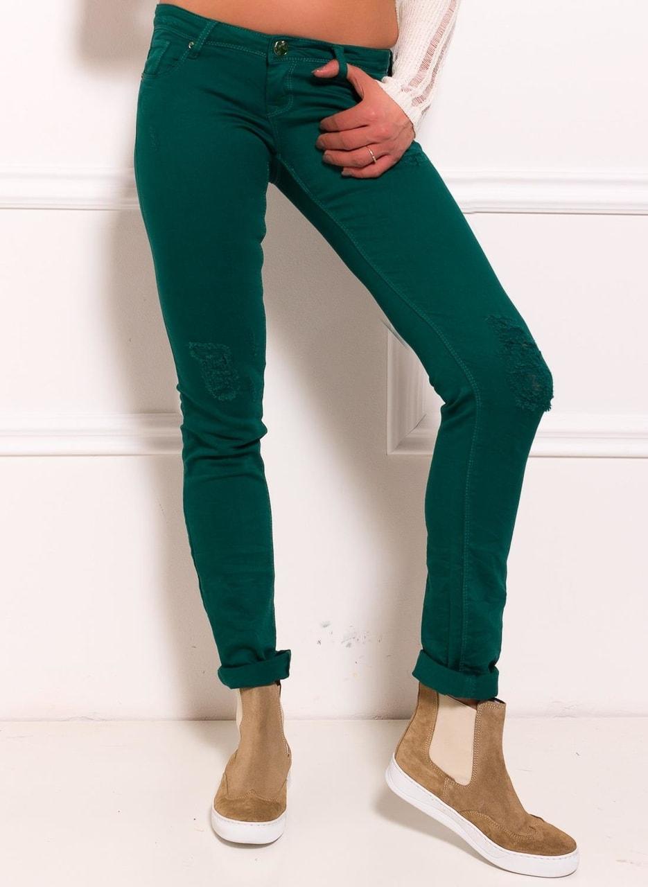 ab950ad0db4 Dámské jeany zelená - Due Linee - Jeany - Dámské oblečení - GLAM ...
