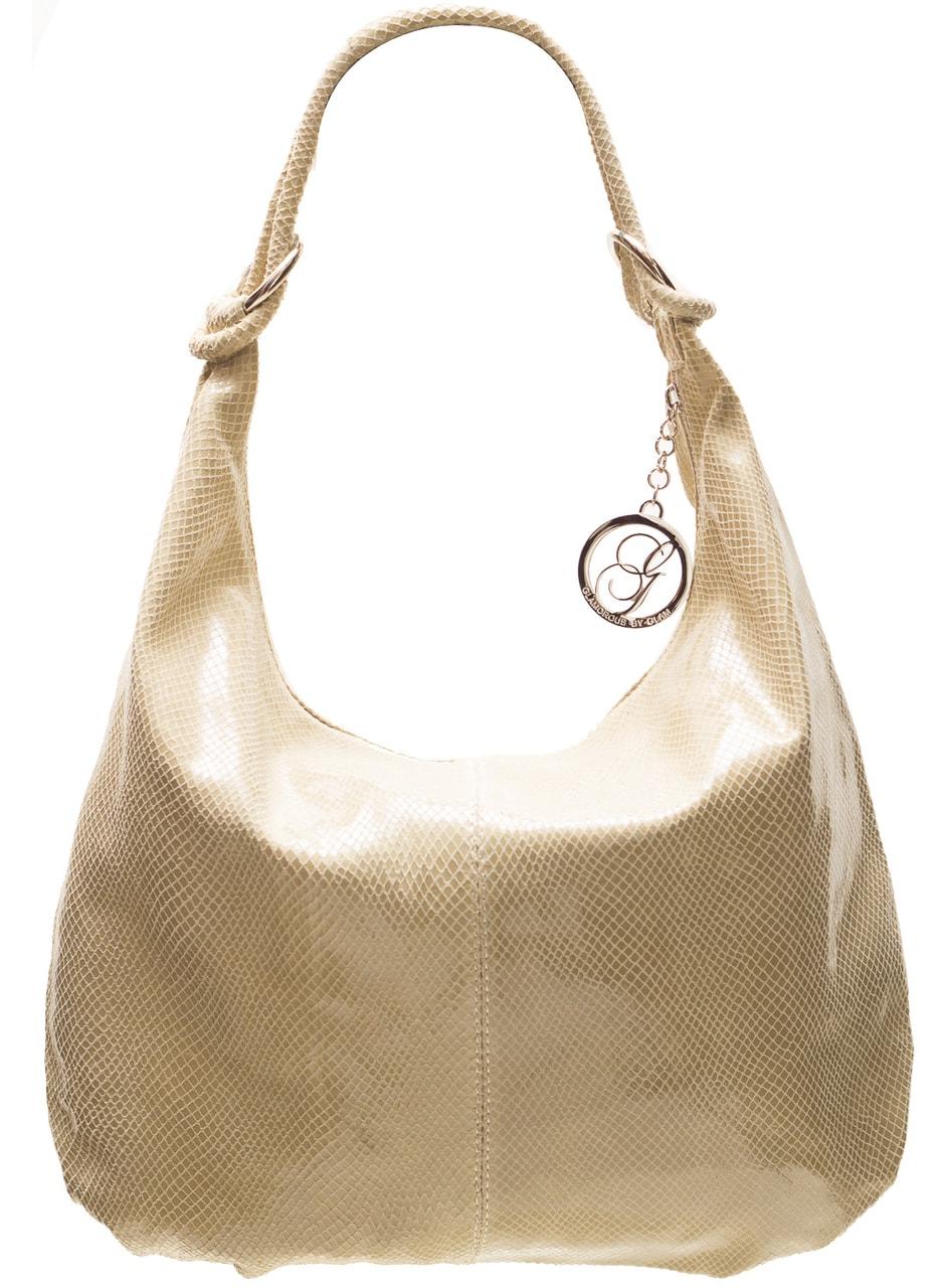 Glamadise.sk - Dámska kožená kabelka s hadím vzorom a krúžky ... 28121135c94